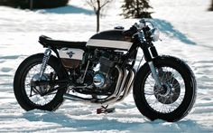 1973 Honda CB 750 Four Cafe Racer BratStyle Cafe from Vermont #motorcycles #caferacer #motos | caferacerpasion.com