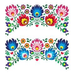 Paper Embroidery Patterns Paper Embroidery Patterns And Instructions. Paper Embroidery Patterns Polish Floral Folk Embroidery Patterns For Card. Mexican Embroidery, Hungarian Embroidery, Folk Embroidery, Paper Embroidery, Learn Embroidery, Vintage Embroidery, Flower Embroidery, Polish Embroidery, Wedding Embroidery