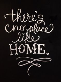 There's no place like home chalkboard