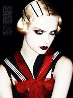 -prep for 20s dance- Vogue Germany March 2011  Photographer: Ben Hassett  Haute Couleur Makeup by Pat McGrath