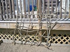 doing this today! Stitches In Time: How To Build A Rustic Twig Trellis