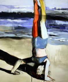"Saatchi Art Artist Hanna Ilczyszyn; Painting, ""Head stand"" #art"