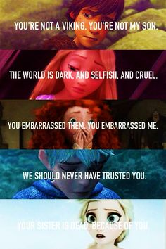The Big Five. Hiccup, Rapunzel, Merida, Jack, Elsa Rise of the Brave Tangled Fro - Disney - Memes Disney Memes, Disney Pixar, Disney Princess Memes, Funny Disney Jokes, Film Disney, Disney And Dreamworks, Disney Love, Funny Memes, Sad Disney Quotes