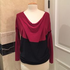 Calson red and black sweater Soft, comfortable and stylish! This color block red and black sweater can go from fall to winter easily. Like new condition! Worn once and washed. Calson Sweaters