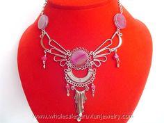 Purple Agate Stone Inca Wings Necklacehttp://www.wholesaleperuvianjewelry.com