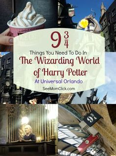 It Disney but had to post it!Here are my Top 9 Things You Need to Do at The Wizarding World of Harry Potter at Universal Orlando!) There is so much to see. Movie fans will LOVE these attractions at a fantastic family travel destination. Universal Orlando, Disney Universal Studios, Universal Studios Florida, Universal Resort, Harry Potter World, Parc Harry Potter, Harry Potter Universal, Disney World Trip, Disney Vacations