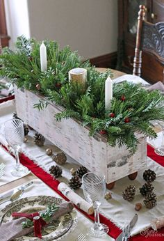 Christmas Table Settings - Decorations and Centerpieces for Christmas Table - Country Living