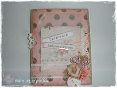 #Tarjeta por toda una vida #card #scrap #shabbychic Cover, Hand Made, Creativity