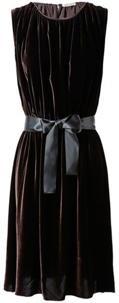 really lovely draped black velvet dress, loose and free with lovely folds of luxurious fabric.