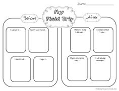Field Trip Exhaustion Freebie A Great Graphic Organizer To Help