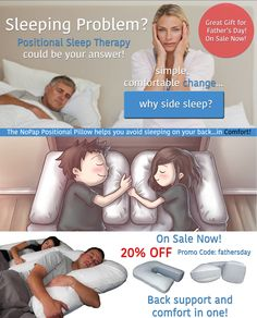 Positional Sleep Apnea Pillow. Reduce Snoring Pillow. Reduce Tossing and Turning. Side Sleeper Pillow. Sleep Better Together!