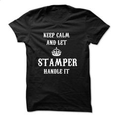 Keep calm and let Stamper handleit - #oversized hoodie #university sweatshirt. CHECK PRICE => https://www.sunfrog.com/Names/Keep-calm-and-let-Stamper-hand-Black.html?68278
