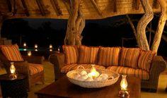 Motswiri Private Safari Lodge - outside lounge area