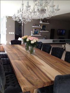 Amazing Chose Large Dining Room Table Good Ideas To Your Home Large Dining Room Table, Dining Room Design, Dining Area, Kitchen Tables, Dining Rooms, Kitchen Wood, Long Dining Tables, Farm Tables, Kitchen Black
