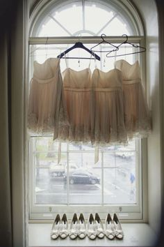 bridesmaids' dresses...but you have to use the same hanger...its just better
