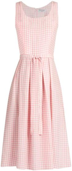 HVN Jordan gingham sleeveless dress