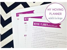 michelle lea designs: The Mother-of-All Moving Planners: Full of Printables and Checklists