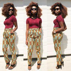 African ankara women pant African Print by Veroexshop on Etsy