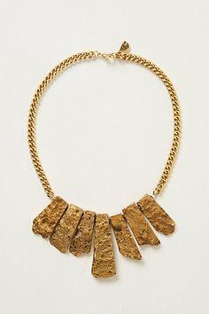 Ore-Fringe Bib Necklace #anthropologie