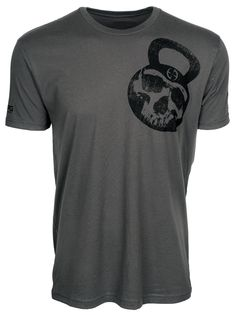 Shop the LA Police Gear Men's Skull Kettlebell Short Sleeve T-Shirt at LA Police and Tactical Gear for the best price Crossfit Shirts, Police Gear, Tactical Clothing, Fitness Logo, Kettlebell, Military Green, Gears, Skull, Tattos