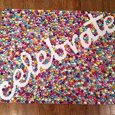 Gem Design on Canvas - D.I.Y. Crafts - Sarah Scoop