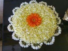 Big list Flower Rangoli Designs ideas and pictures for this ganesh chaturthi or any other Indian festivals. Learn flower rangoli designs for competition with flowers. Rangoli Designs Flower, Colorful Rangoli Designs, Rangoli Ideas, Rangoli Designs Diwali, Diwali Rangoli, Rangoli Designs Images, Flower Rangoli, Beautiful Rangoli Designs, Flower Mandala