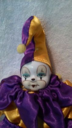 CLOWN DOLL WITH A PORCELAIN FACE | Collectibles, Decorative Collectibles, Figurines | eBay!