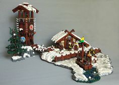 I'll admit it: despite all the sci-fi that I build, my secret loves are castle and historical builds. Today Gabriel Thompson takes us out of medieval Europe, and heads north to Scandinavia and the land of the Vikings. The snow and ice in this scene are excellent, with undisturbed curves on the rocks, and studs …