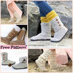 diy4ever Crochet Boots with Soles Free Patterns F2 - Crochet Boots with Soles - Free Patterns