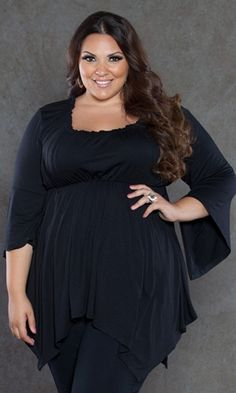 Curvalicious Clothes :: Plus Size Tops :: Enchanted Top in Black ... For next year's Witches' Tea?