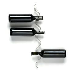 Flow Bottle Rack, $36, now featured on Fab. cool though i'd be afraid of the neck breaking lol