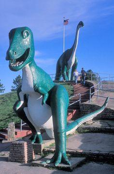 Rapid City, South Dakota. Dinosaur Park -