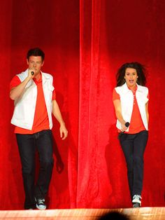 Glee's Finn Hudson and Rachel Berry, Played by: Cory Monteith and Lea Michelle