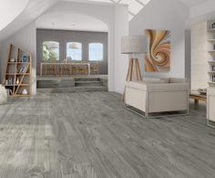 Timber-R Charcoal cm. Home Upgrades, Ceramic Floor Tiles, Tile Floor, Wood Tiles, Porcelain Tiles, Imitation Parquet, Grey Wood, New Homes, Sweet Home