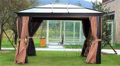 3*3.6 meter PC board high quality durable garden gazebo grace outdoor tent canopy fashion aluminum sun shade pavilion #Affiliate