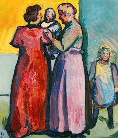 Cuno Amiet 1868-1961 Frauen Mit Kindern,
