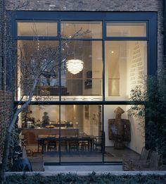 double height windows loft living