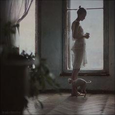 by the window by ~belovaan on deviantART