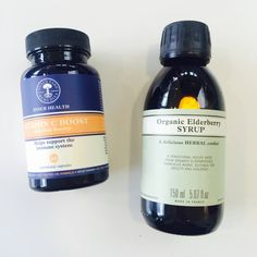 Vitamin C and Elderberry syrup for those winter colds.  us.nyrorganic.com/shop/carrierigsby