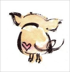 This would make a cute tattoo. I would maybe put wings on him or even have a balloon tied to his tail.