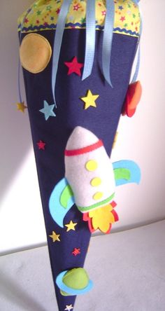 Schultüten - Schultüte*RAKETE*Zuckertüte*Schulanfang*Weltall - ein Designerstück von Leas-Kinderwelt bei DaWanda