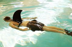 Shark Dorsal Fin for Swimming-by Fin Fun, Light, Comfortable, Realistic, and Fun!