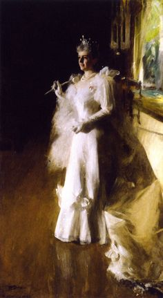 Mrs. Potter Palmer                                        Anders Zorn    - 1893                        Art Institute of Chicago (United States)                      Painting - oil on canvas