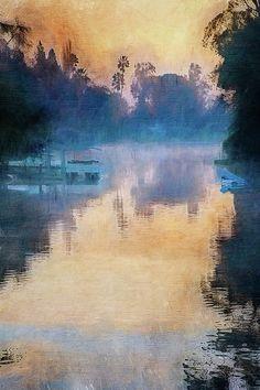 """Canal Impressions"" by Terry Davis #Canal #Stockton #California #Reflection @terryikon"