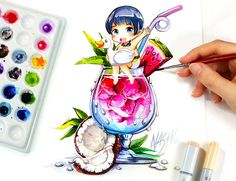 Actually i wanted to throw in a tutorial today but i couldn't stop drawing on the cocktail boys mwahahahahaa. I get addicted to everything cute straightaway Tools: Faber Castell Polychromos . Pokemon, Pikachu, Kawaii Chibi, Anime Kawaii, Beautiful Drawings, Cute Drawings, Geeks, Top Anime, Art Mignon