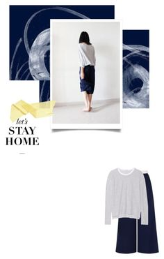 """""""'l ɛ t s / s t e ɪ / h ə ʊ m / - 0 3 9 -"""" by hey-anna ❤ liked on Polyvore featuring Roksanda and James Perse"""