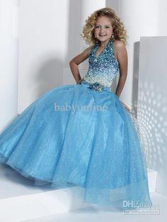 Azul Lentejuelas De Organza Vestido Del Desfile Princesa 13313 Princesa Ganar Desfile De Vestidos Para Niñas Desde