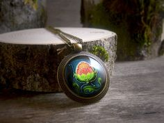 Art Nouveau pendant Water lily Art Nouveau by TriccotraShop