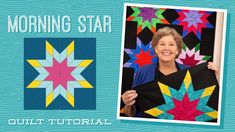 "Make a ""Morning Star"" Quilt with Jenny Doan of Missouri Star (Video Tuto. Lone Star Quilt Pattern, Jelly Roll Quilt Patterns, Star Quilt Blocks, Star Quilt Patterns, Strip Quilts, Missouri Star Quilt Pattern, Missouri Quilt Tutorials, Quilting Tutorials, Msqc Tutorials"