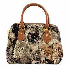 Cat Tapestry Convertible Bag
